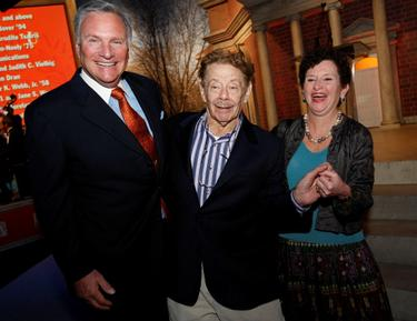 Howard Phansteil, Jerry Stiller and Nancy Cantor at the Syracuse University&#39;s $1 Billion Capital Campaign Kick off.